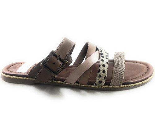 Jenny 22-56101 Jamaica Tan, Beige and Blush Leather Open-Toe Mule Tan