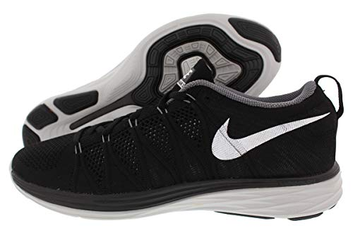 Nike Womens Flyknit Lunar2 - Black / White-Dark Grey-Pure Platinum, 11 B US