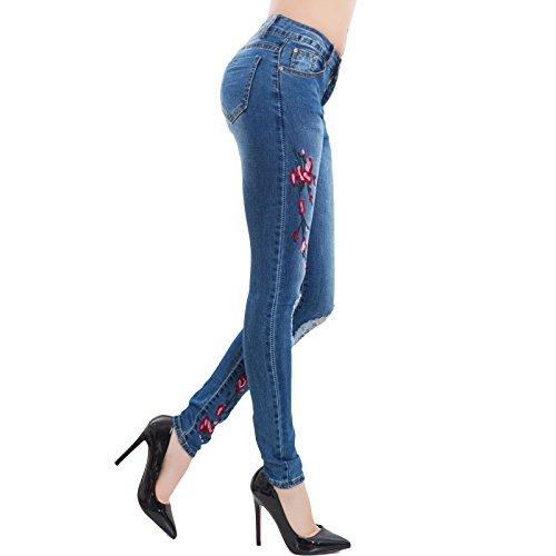 para Toocool mujer skinny Vaqueros turquesa wx1w4HUaq0