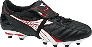Diadora Men's LX K II Pro MG1 Soccer Cleat,Black/White/Red,5 M US
