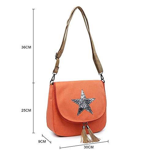 Dimensione nuove in tela messenger Moontang unisex Borse Giallo tracolla a leggero Colore borse leggere per Navy donna qTfFZRw
