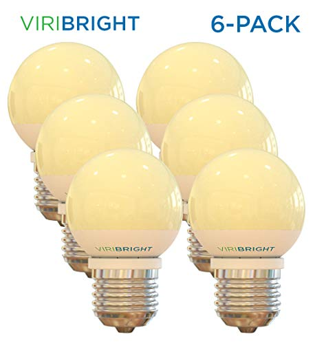 25 Watt Equivalent G15 LED Vanity Light Bulbs (6-Pack) Warm White 2700K E26 Medium Base LED Globe light 180 lumens ()