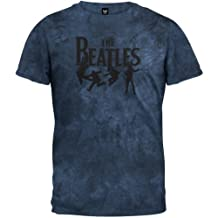 The Beatles - Mens Free Fall Tie Dye T-shirt Large Dark Blue