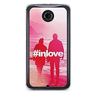 Loving Nexus 6 Transparent Edge Case - Hashtag in love