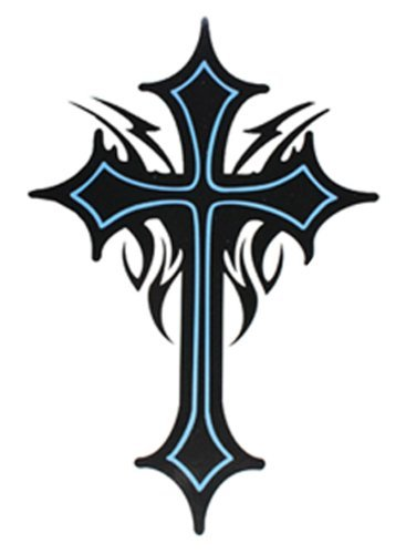 """SPESTYLE waterproof non-toxic temporary tattoo stickersExtra large size cross totem temporary tattoos 8.66""""x8.07"""" Inches"""