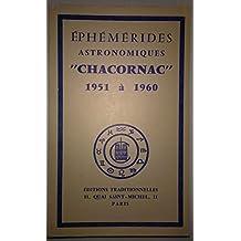 Ephémérides astronomiques Chacornac 1951 à 1960