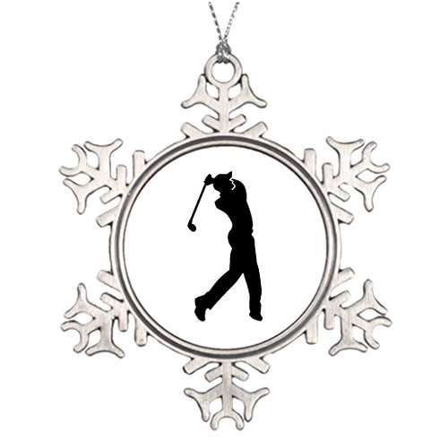 Hipporal Ideas For Decorating Christmas Trees Ball Golf Player Christmas Vacation Snowflake Ornaments -