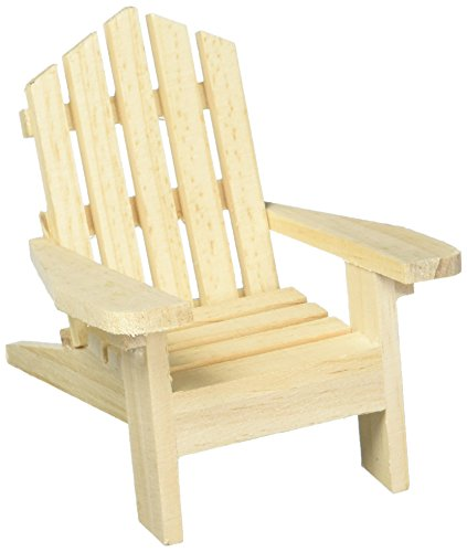 Darice 9132-67 Small Adirondack Wood Chair