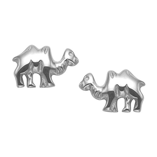 Tiny Sterling Silver Camel Stud Earrings by Wild Things