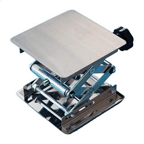 Fluid Lifting (juler Lab Instruments & Equipment Fluid & Liquid Handling Laboratory Lifting Platform 100 150 200 250 300mm Small Lifting Platform Manual Stainless Steel,Silver,M)