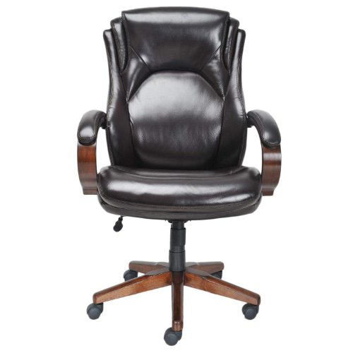 Lane Executive Leather Office Chair With Padded Handle Waterfall Seat Marketplace Offers