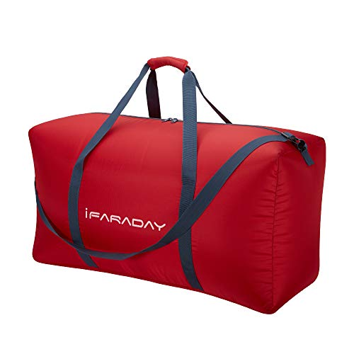 120L Packable Duffle Bag,Extra Large Travel Duffle Bag,Luggage Bag (Red)