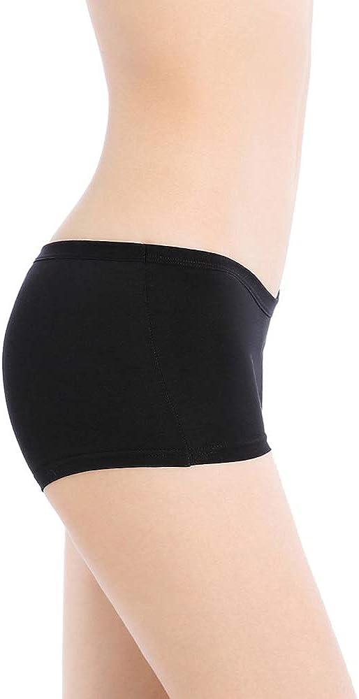 Closecret Lingerie Womens Multi-Pack Comfort Soft Boyshorts Stretch Cotton Panties