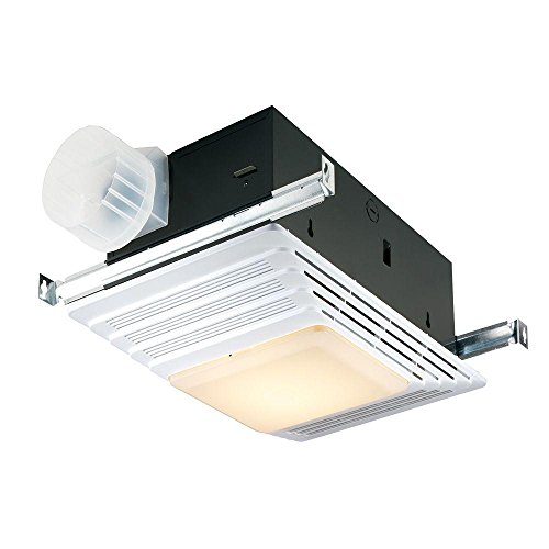 Broan Heater, Fan, and Light Combo for Bathroom and Home, 4.0 Sones, 1300-Watts, 70 CFM ()