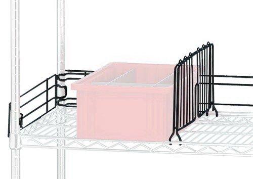 Quantum Storage DIV12BK Wire Shelf Divider Black - 12 in.