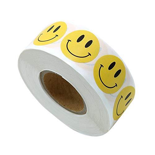 Haobase - Lote de 500 pegatinas redondas de 25 mm, color amari