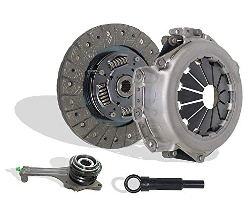 Clutch Kit With Slave works with Mitsubishi Lancer Oz Rally Edition Ls Es 2.0L l4 GAS SOHC Naturally Aspirated 2.0L l4 GAS DOHC (5 Speed Trans) - Mitsubishi Lancer Clutch Kit