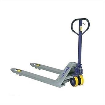 Wesco productos industriales 272136 estándar Deluxe – Transpaleta con mango, moldon Poliuretano ruedas, 5500