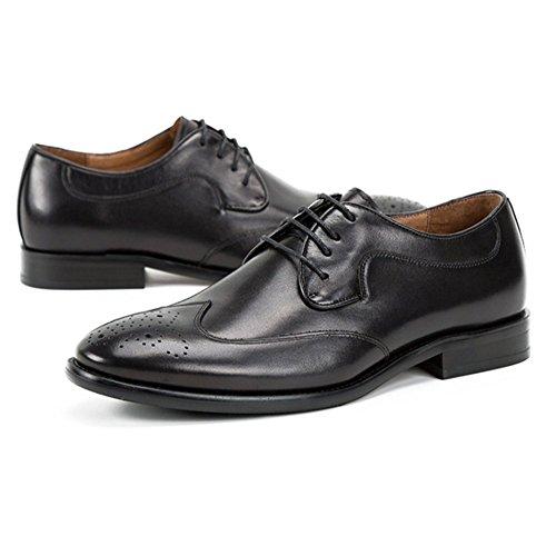 Rétro en Hommes de Affaires Printemps Cuir Mariage Noir Britannique Été de Mode NIUWJ Chaussures Casual wtUa7q7