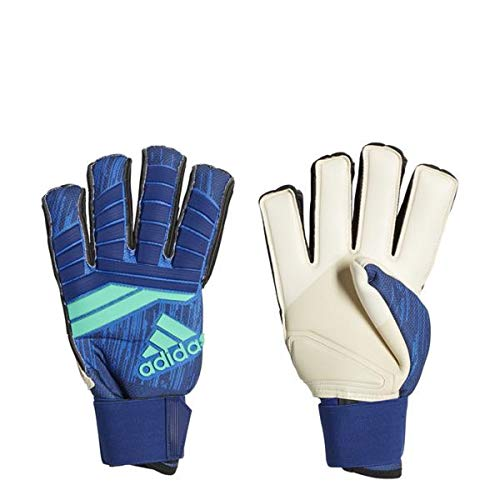 adidas Predator Fingersave Promo Soccer Goalie Gloves (Hi-Res Blue/University Ink/Hi Energy, 9) Adidas Fingersave Goalkeeper Gloves