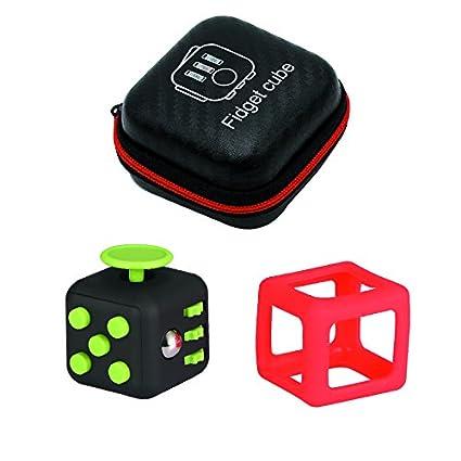 3PCs 1 Fidget Cubes Case Silicon Frame