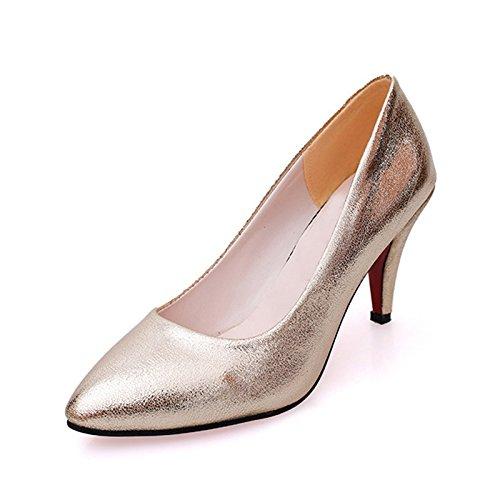 Mode Hauts Chaussures Talons Chaussures Femmes Doré Esthétique Or Or Hauts à Vivioo Talons 5qvER