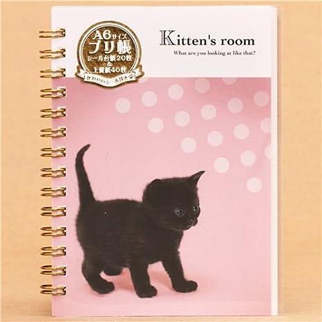 Libreta de anillas y álbum pegatinas con gato bebé: Amazon.es: Juguetes y juegos