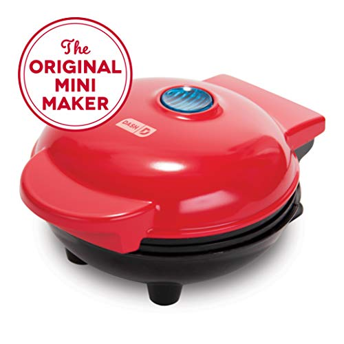 Dash Mini Maker: The Mini Waffle Maker Machine for Individual Waffles, Paninis, Hash browns, & other on the go Breakfast, Lunch, or Snacks - Red (Sales Christmas After Appliance)