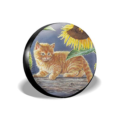 HR.charm Tire Cover Sunflower and Cat Unisex Tire Coverarizona Cardinals Tire Cover