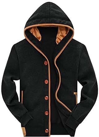 Wantdo Men's Hooded Fleece Sweatshirts US Large Black