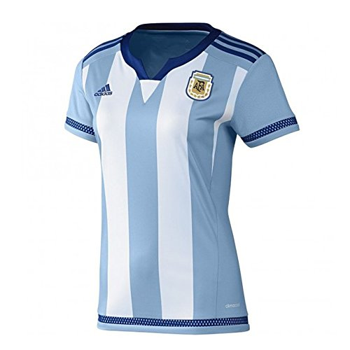 AdidasレディースArgentina Home Soccer Jersey B00WXDXSUGX-Small
