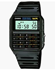 Casio Men's 'Databank' Quartz Resin Casual Watch, Color:Black (Model: CA53W-1)