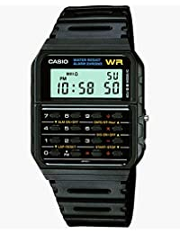 Men's 'Databank' Quartz Resin Casual Watch, Color:Black...