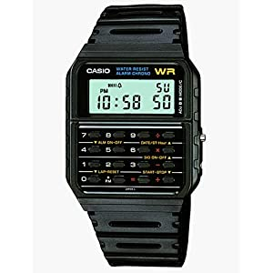 Casio Men's 'Databank' Quartz Resin Casual Watch, Color:Black (Model: CA53W-1)
