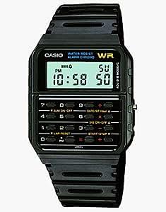 Casio CA-53W-1 Black Retro Style Unisex Digital Calculator Watch