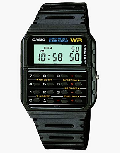 Casio Men's Vintage CA53W-1 Calculator Watch (Alarm Watch Casio)