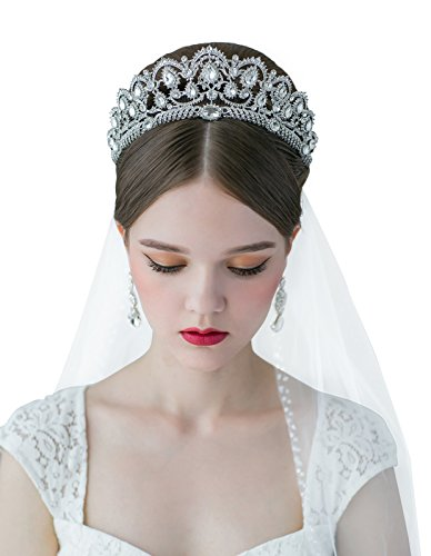 SWEETV Crystal Headpieces Pageant Wedding