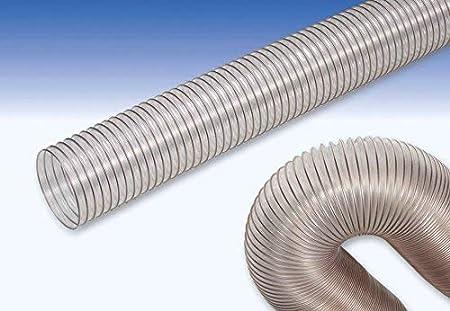 Tubo flex poliuretano con spirale in acciaio ramato /Ø interno 130 mm 1 metro