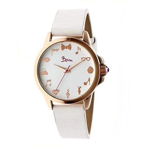 Boum Soigne Quartz White Polyurethane Rose Gold Women's Watch (Women Watches Boum)