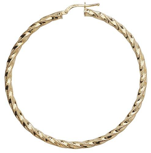 Boucles d'oreilles créoles en or 9ct Coupe Diamant