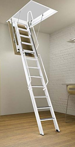 Rainbow F3060-12 - 30''L x 60''W F-Series Tall Attic Ladder/Stair 11'8''H - 12'2''H - WHITE by Rainbow