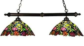 Spiral Tulip Tiffany Stained Glass Kitchen Island Pendant