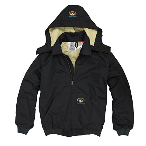 Rasco BKFQ2211 Men's FR Hooded Jacket, Black Duck - L L (Quilted Jacket Sweater)