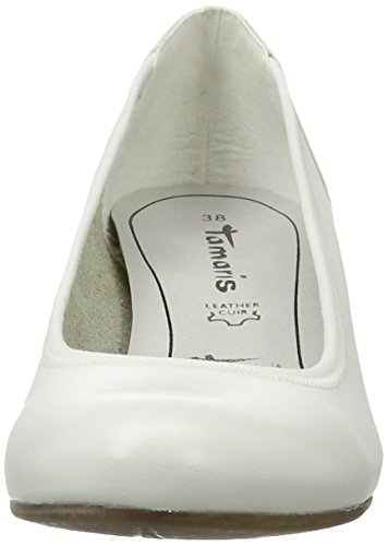 Tamaris22301 - Zapatos de Tacón Mujer Blanco (White Comb 197)
