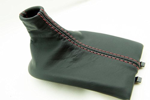 Porsche 911 Shift (Fits 1997-2004 Porsche Boxter, 911, 996, 986 Real Black Leather Shift Boot with Red stitching. (Leather Part Only))
