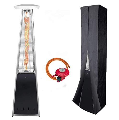 BU-KO Calentador Patio a Gas para Exterior | Jardín, Terraza, Barbacoa | Estufa Piramidal al Propano – 13kw | Ruedas…