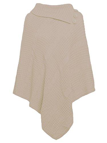 Freedom & Fashion - Poncho - capa - para mujer Biege