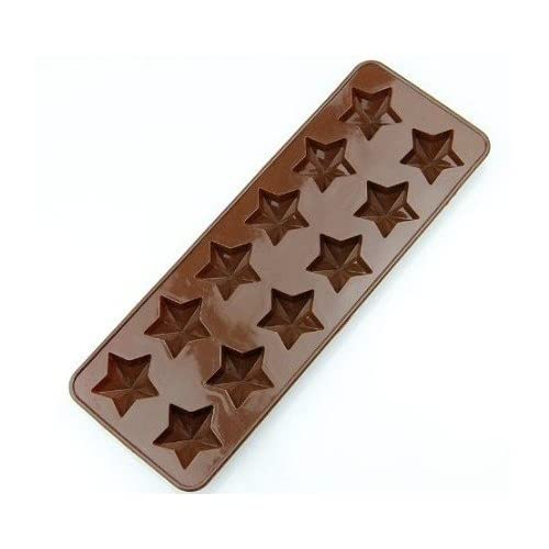 Allforhome(TM) 12 Pentagram Stars Silicone Chocolate Mold Candy Mold Craft Art Resin Clay Decorating Molds Ice Cube Tray