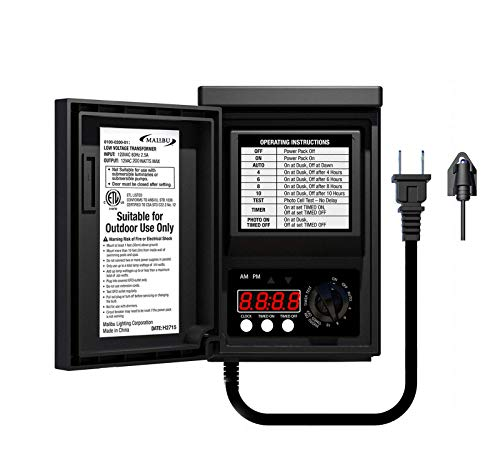 Malibu Power Pack 200watt Low-Voltage Weatherproof Transformer with Photo Sensor for Low-Voltage Landscape Lighting