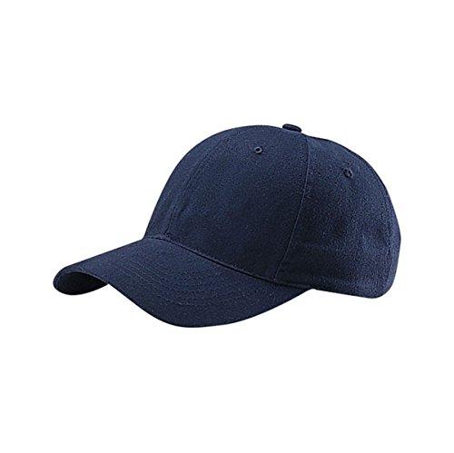 Navy Blue Brush Cotton Hat - 6
